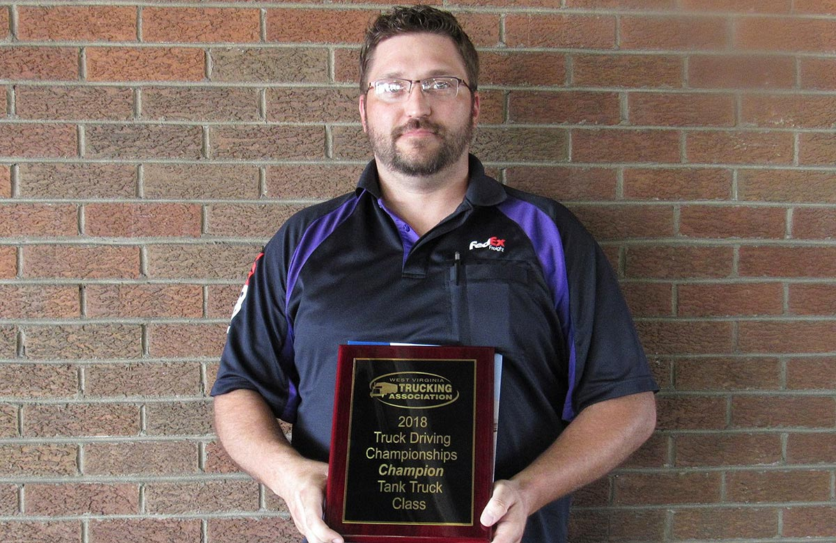West Virginia Grand Champion Jeremy Thomas of FedEx Freight
