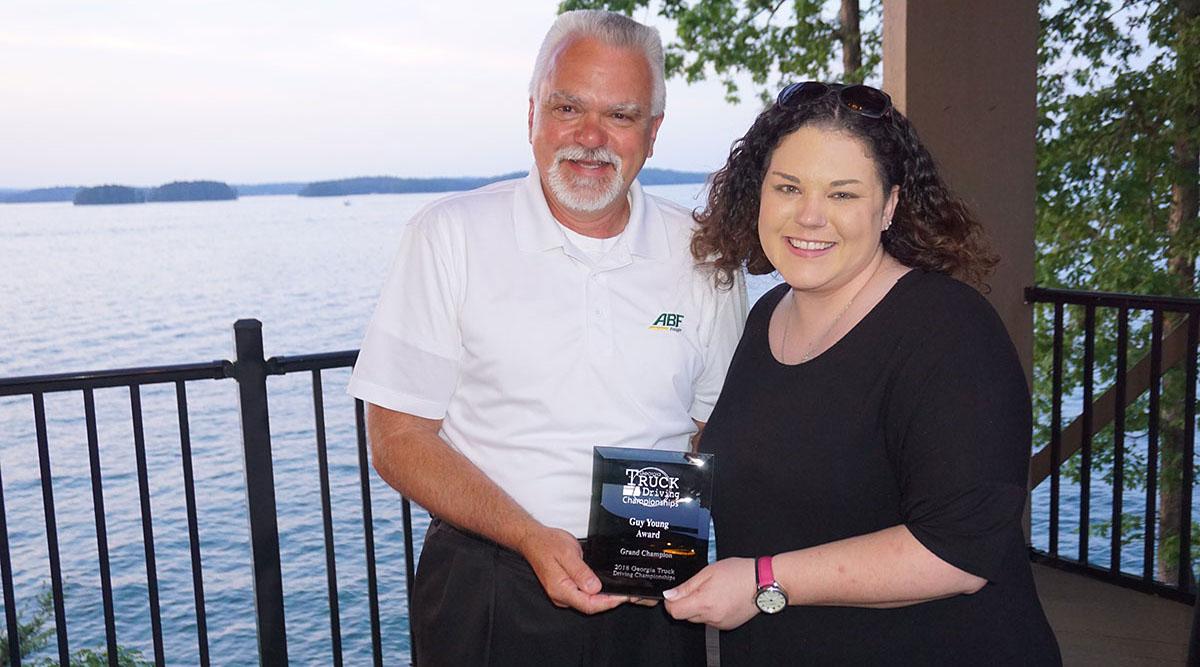 Tim McElwaney and Georgia Motor Trucking Association's Emily Crane