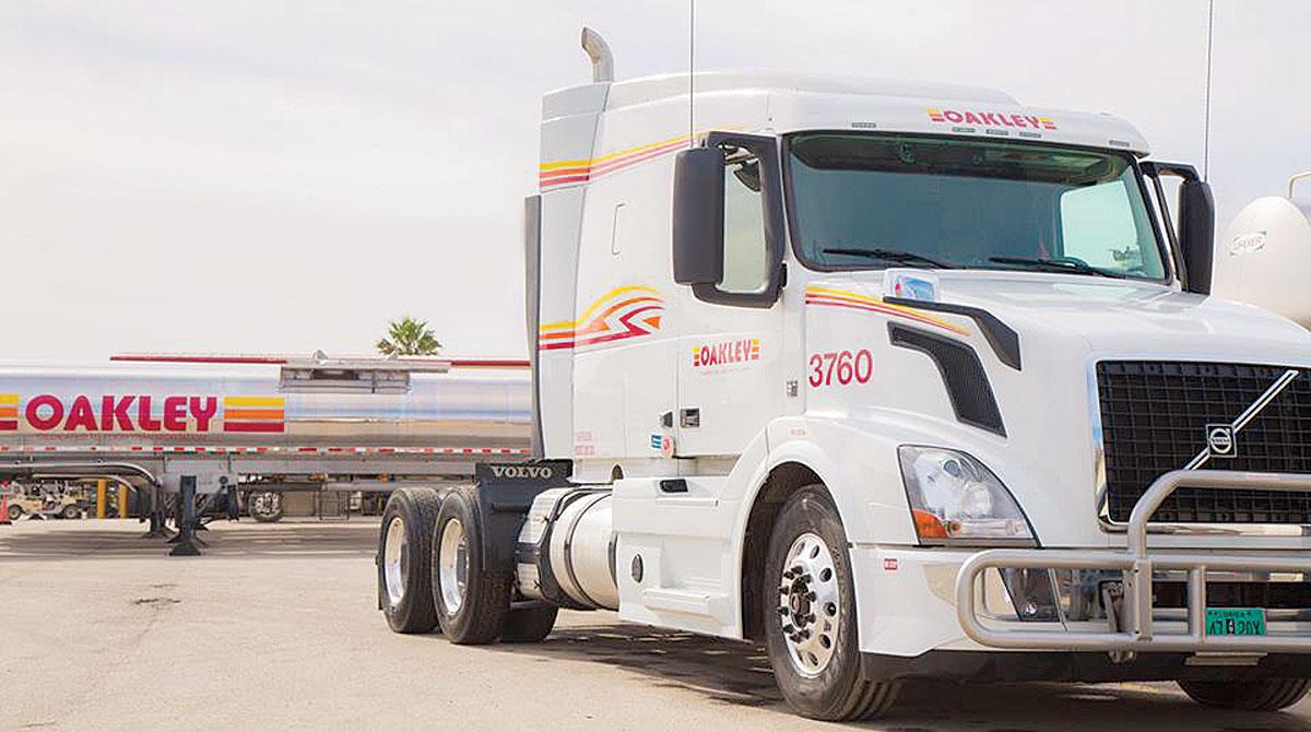 Oakley Transport truck