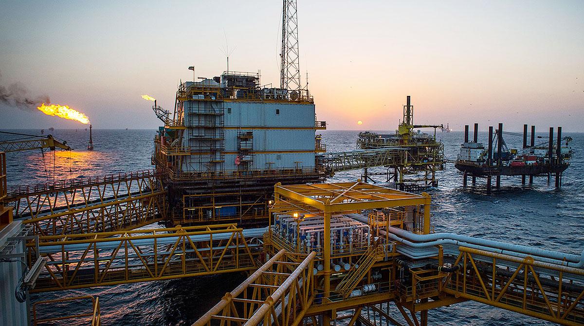 Persian Gulf oil platform