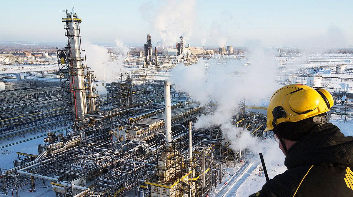 Oil refinery in Russia