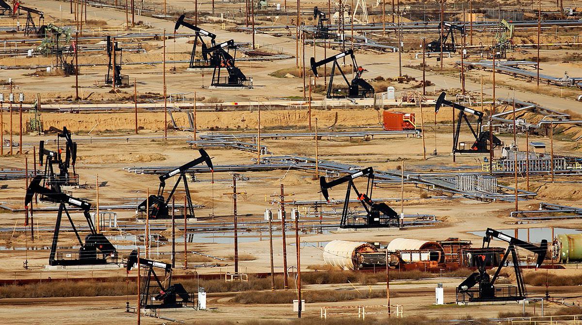 Oilfield in Bakersfield, Calif.