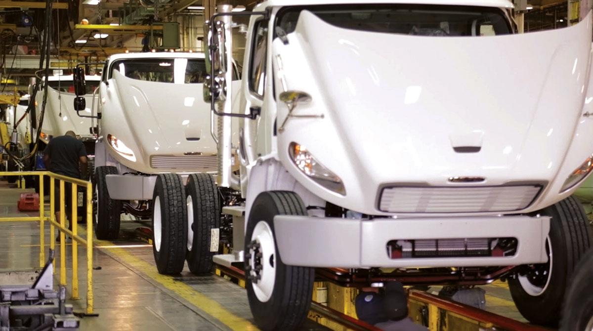 Freightliner assembly line