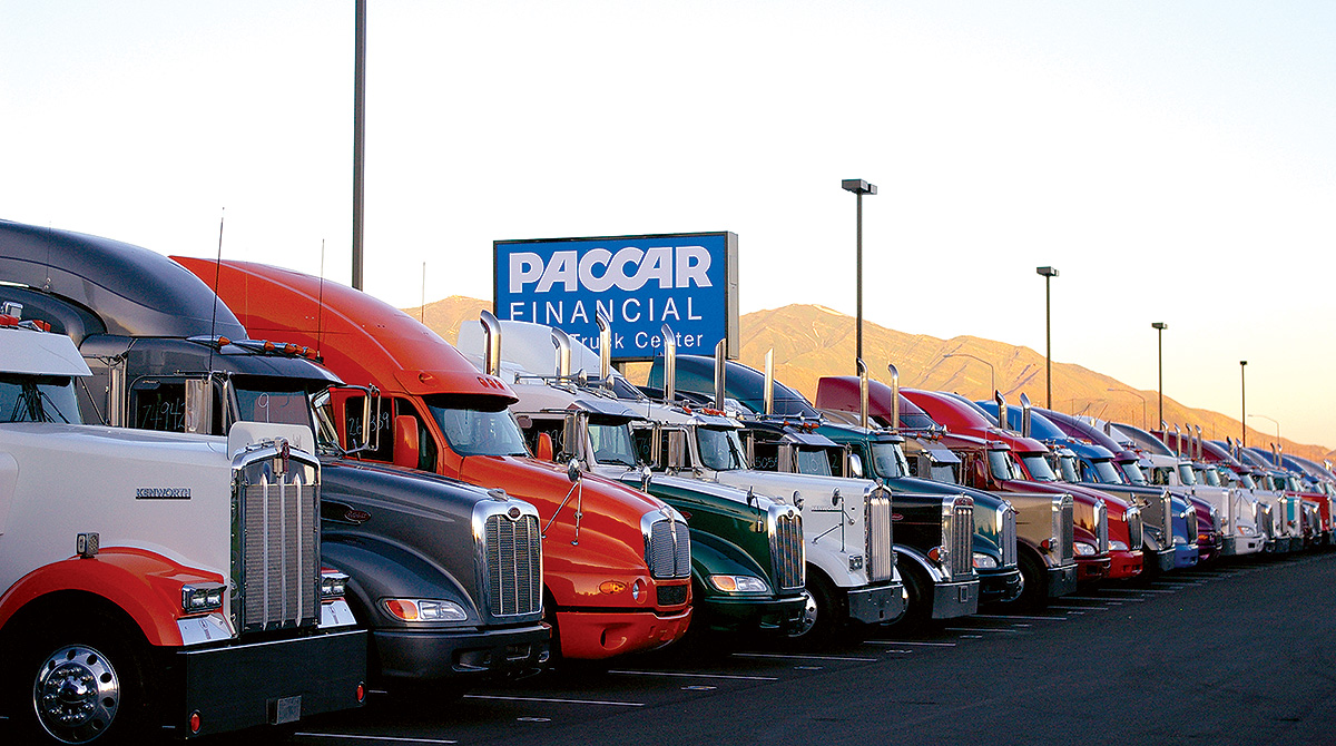 Trucks on Paccar lot