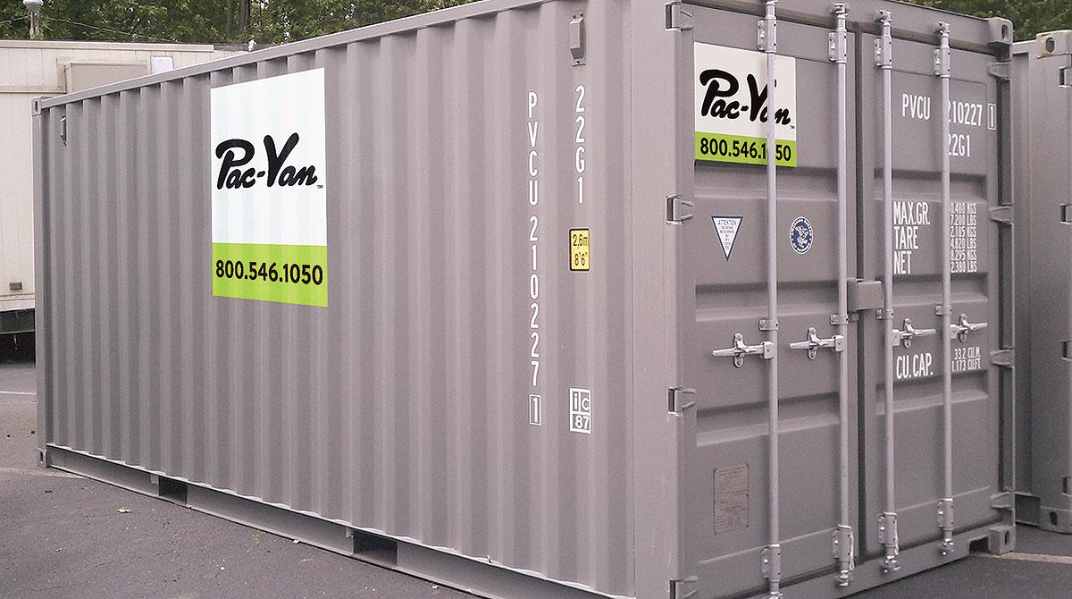 Pac-Van storage container