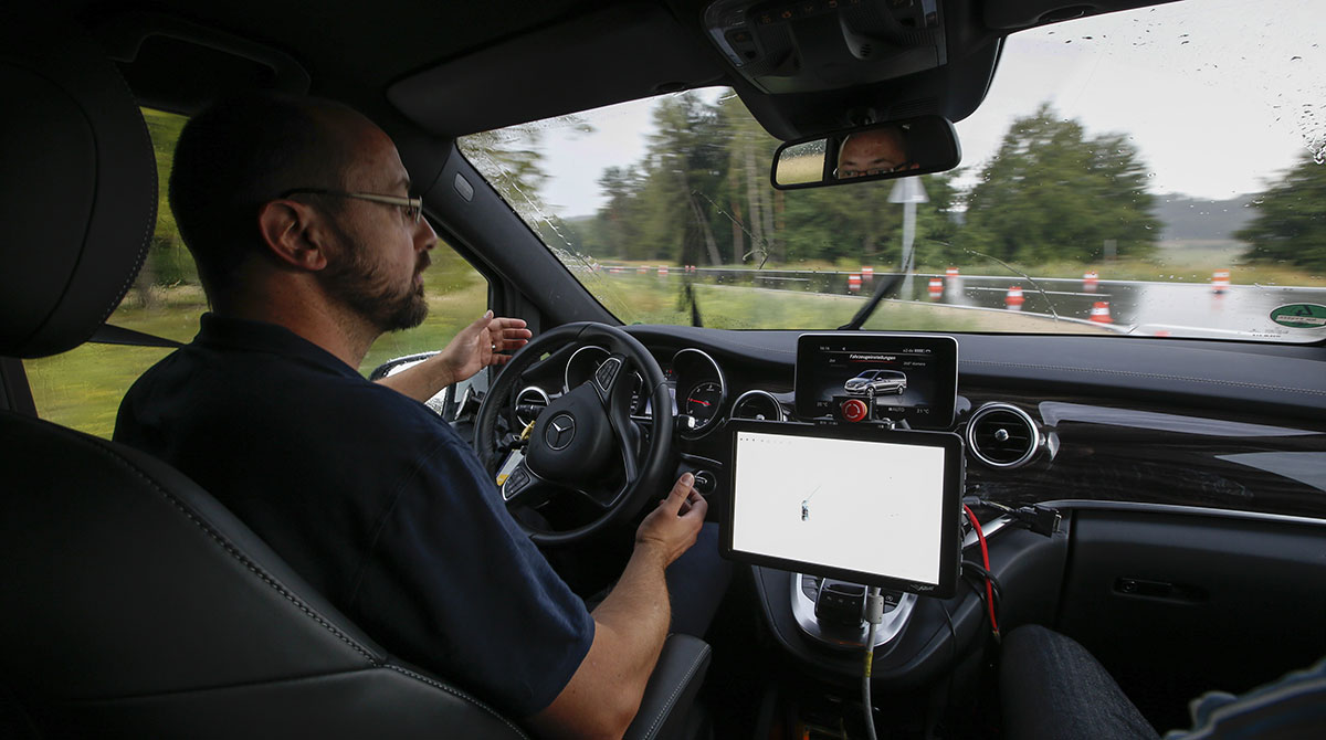 Automous car testing in Germany