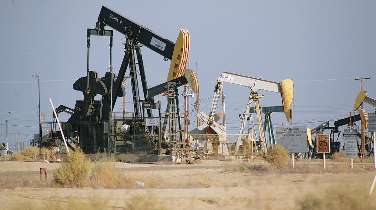 Oil derricks in the Permian Basin