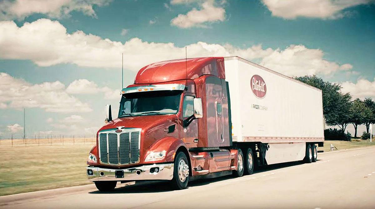 Peterbilt truck on highway