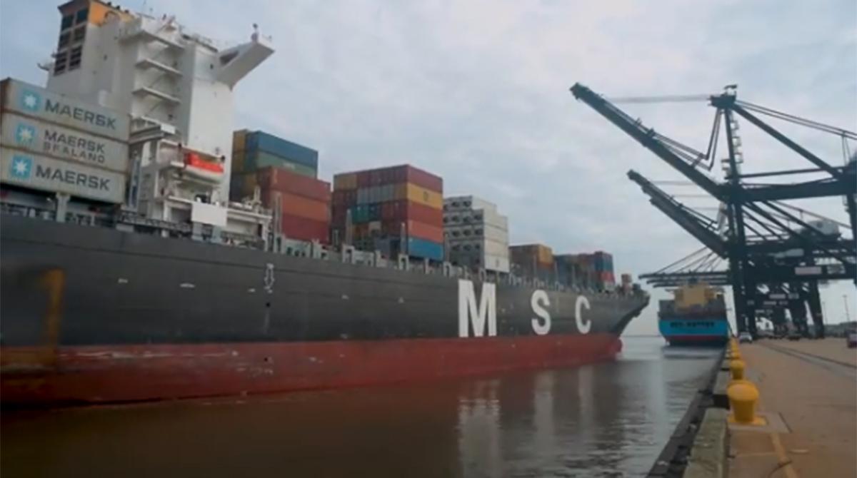 MSC Vittoria at the Port of Houston