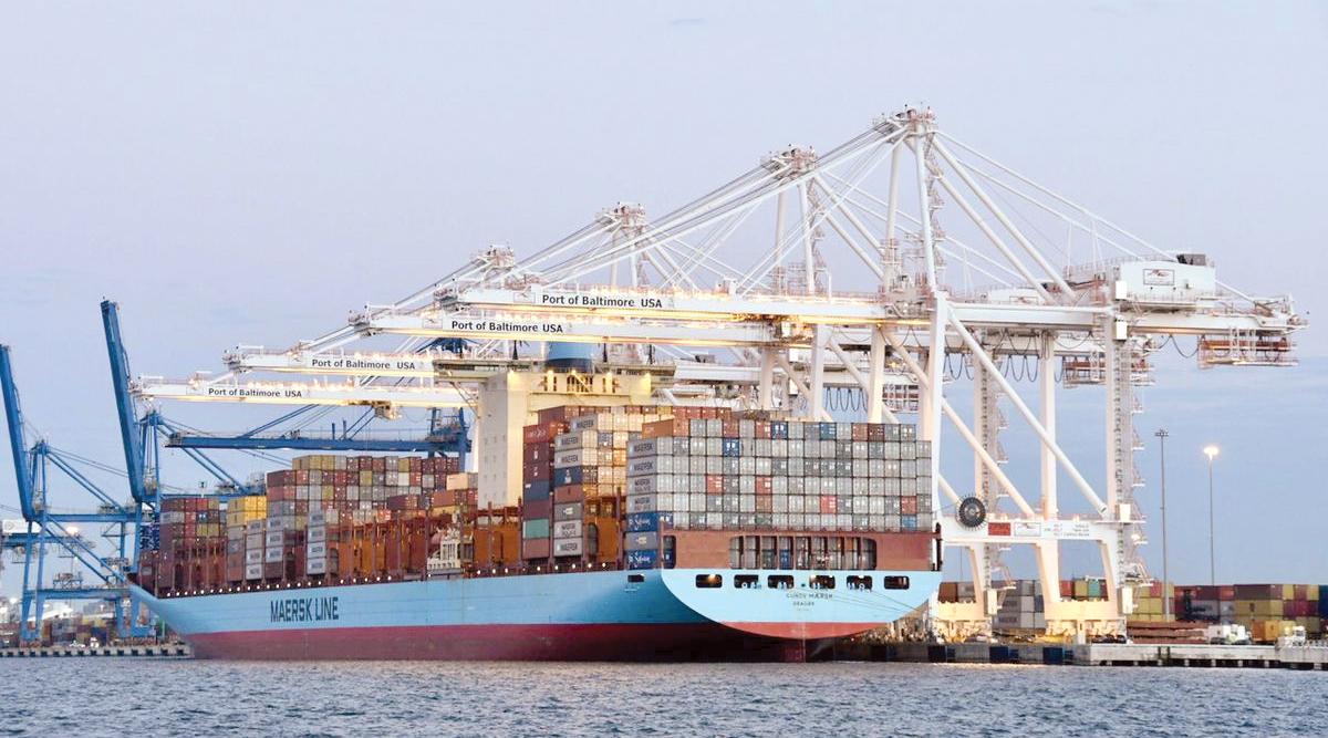 Ship at Port of Baltimore