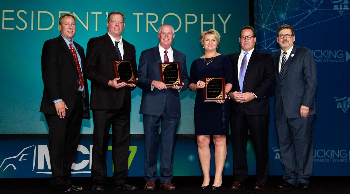 President's Trophy Award winners