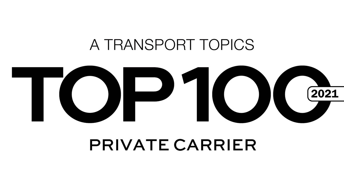 2021 Top 100 Private Carrier logo.