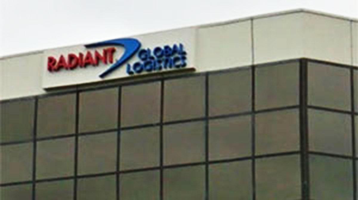 Radiant Logistics sign on building