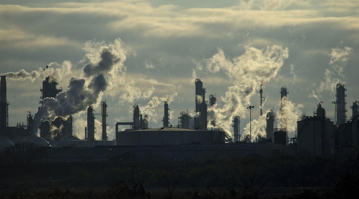 A Valero Energy Corp. refinery in Texas is seen on Feb. 19. (Eddie Seal/Bloomberg News)