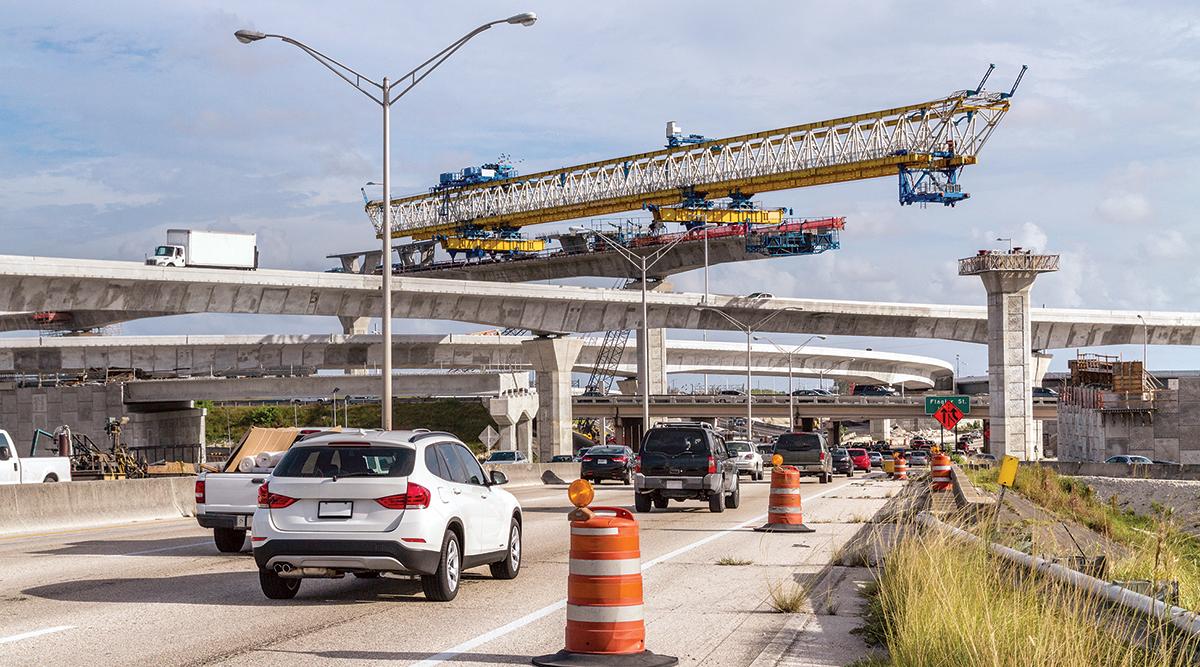 Bridge construction in the Miami area