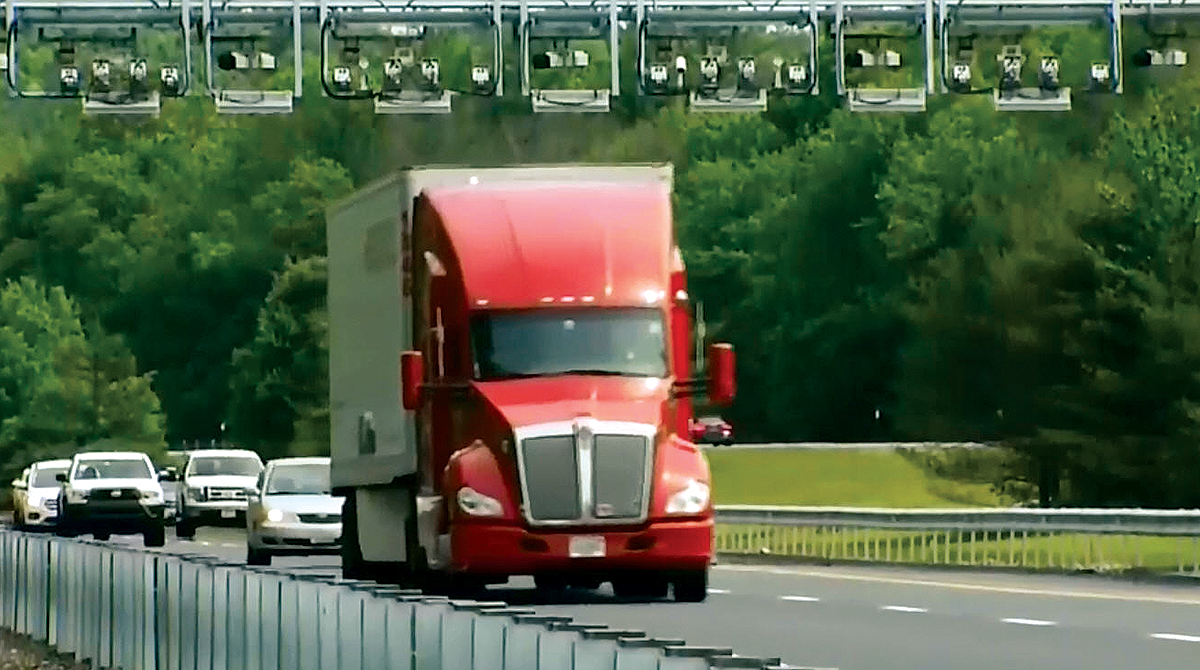 Truck at Rhode Island toll