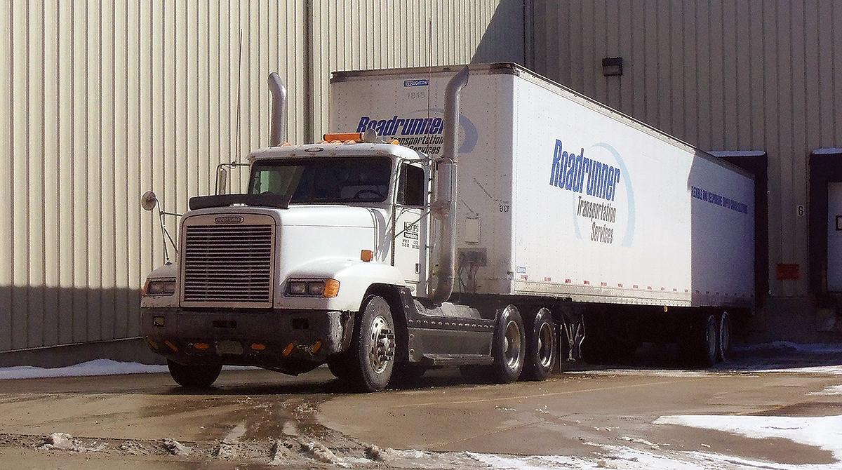 Roadrunner truck at loading dock