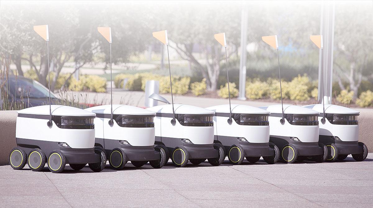 Fleet of small robots