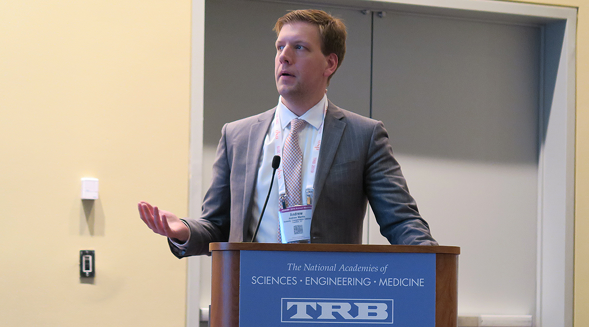 Andrew Martin, a senior research scientist at the University of Kentucky's Transportation Center.