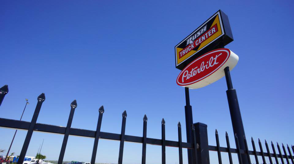 Sign over a Rush Enterprises location