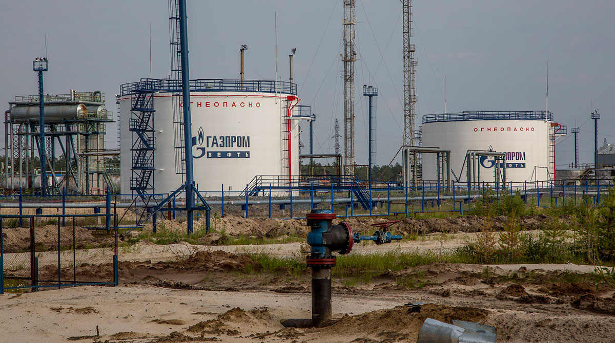 Gazprom oil producing facility in the Yamal region, Russia.
