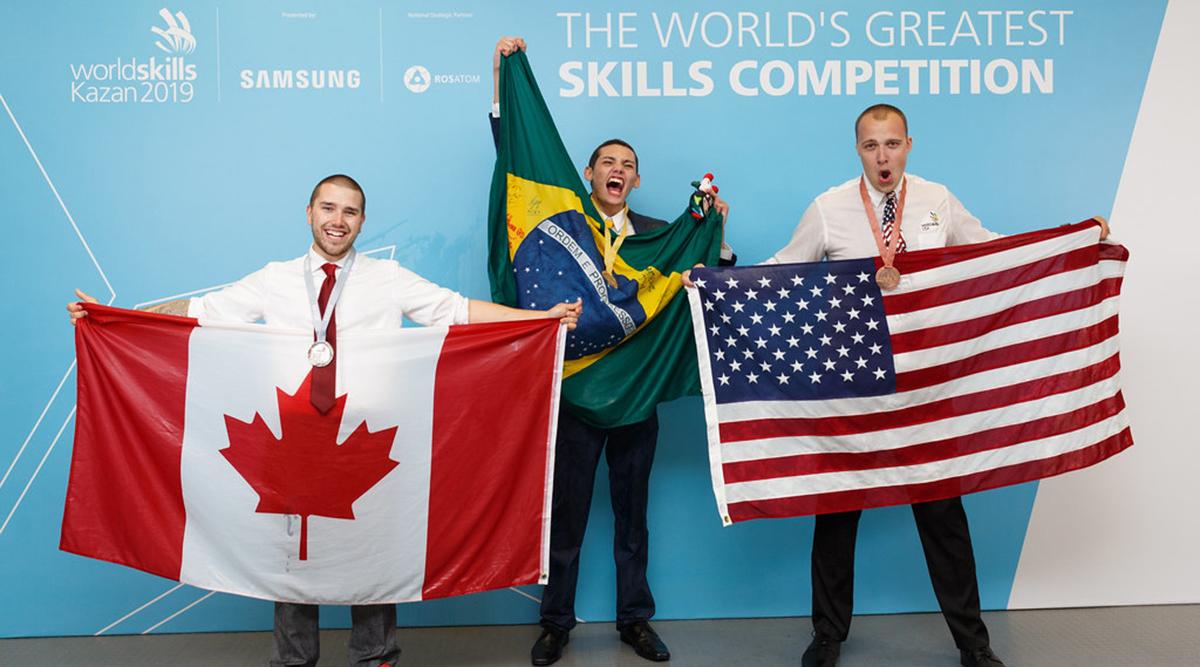 Ryan Meppelink with WorldSkills competitors