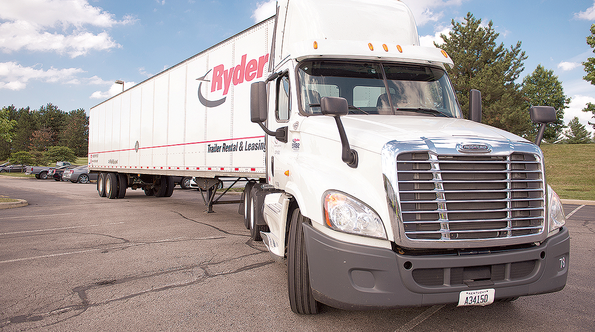 Ryder truck and trailer