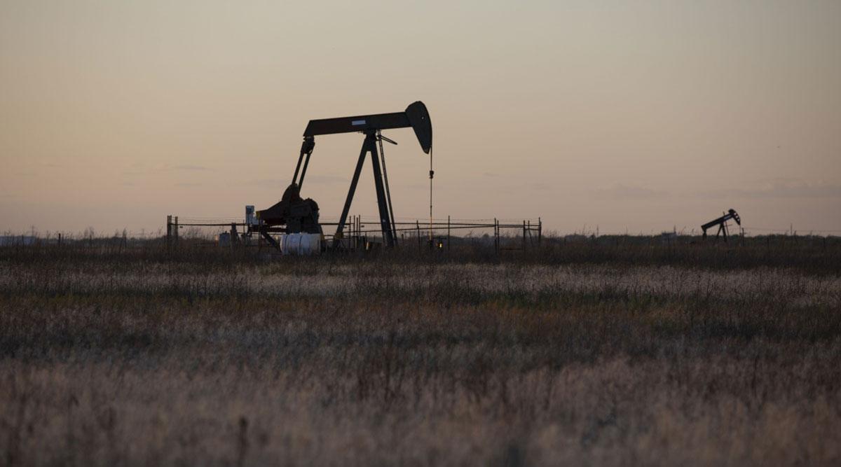 An oil pumping jack operates in Texas. (Matthew Busch/Bloomberg News)
