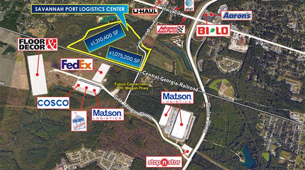 Site plan for Savannah Port Logistics Center