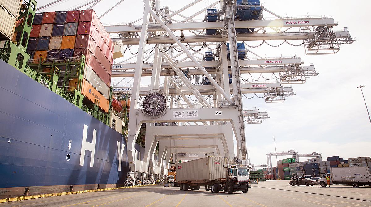 Ship at Port of Savannah