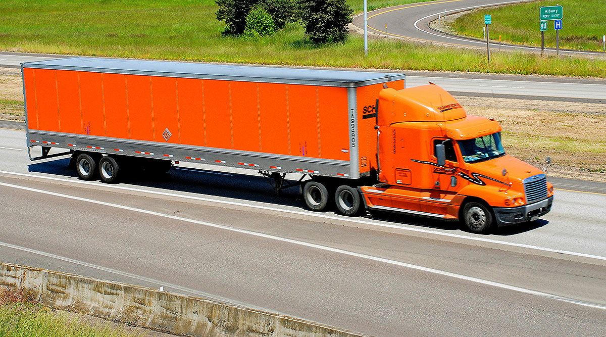 A Schneider truck