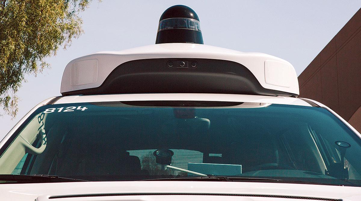 Waymo autonomous vehicle sensor
