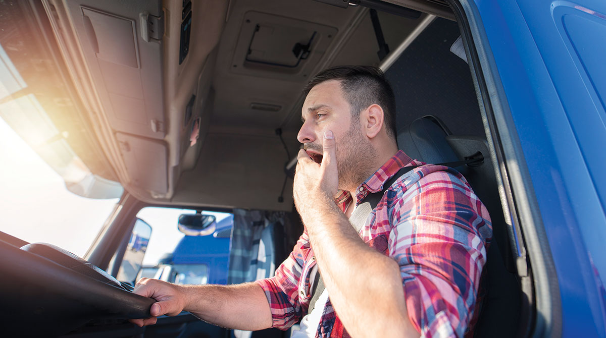 yawning driver