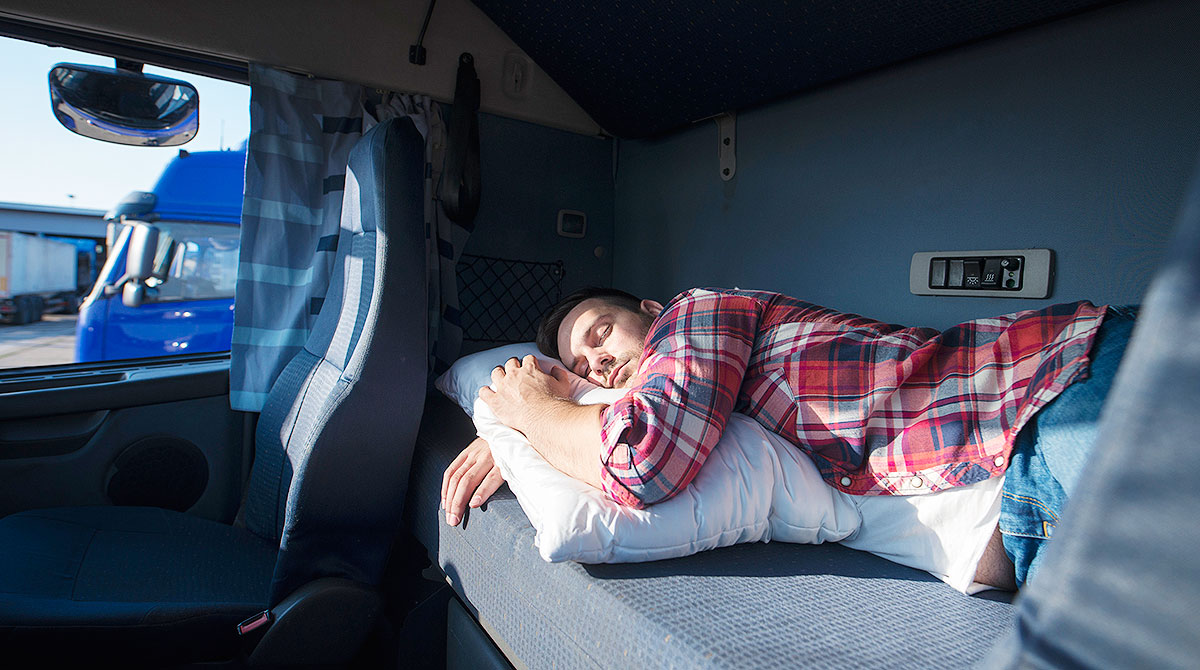Driver in sleeper berth