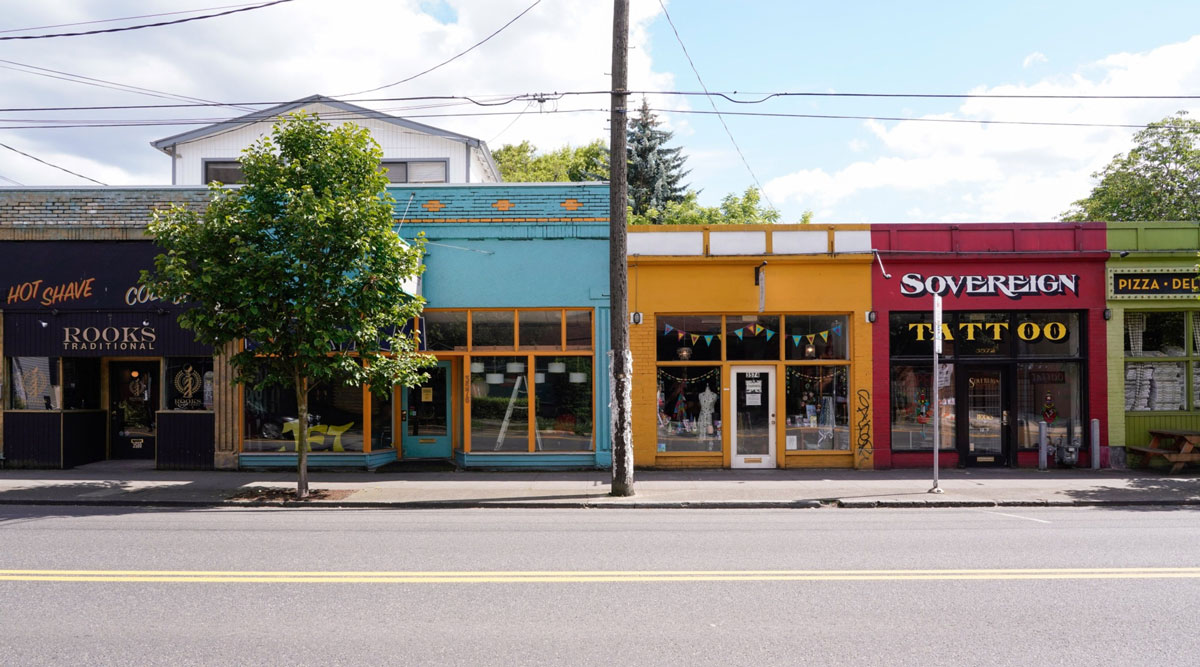 Small business stand temporarily closed in Portland, Ore., on June 17.