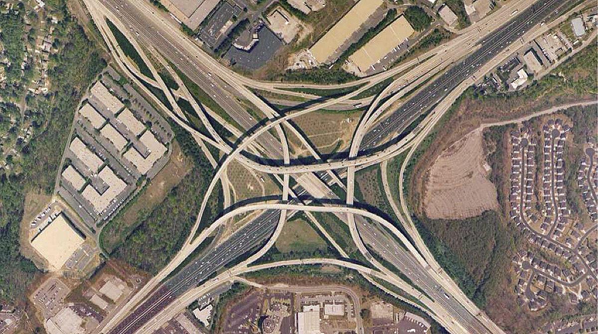 Metro Atlanta's Spaghetti Junction