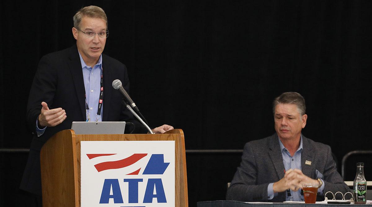ATA's Chris Spear (left), Randy Guillot