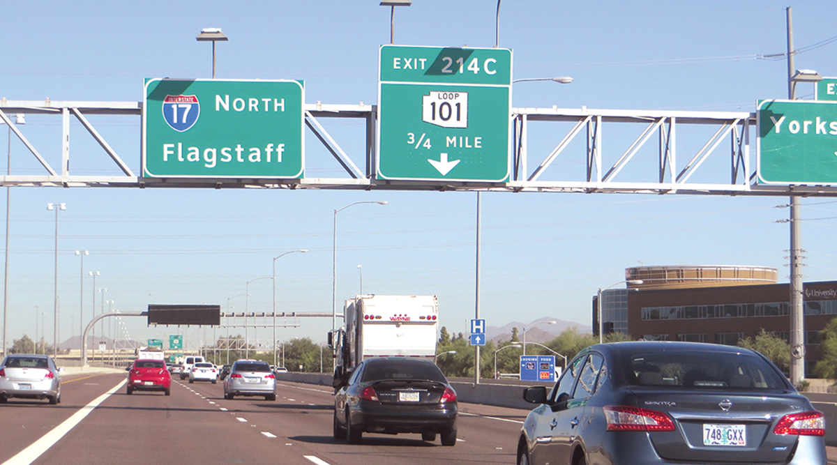 View of Interstate 17 in Arizona