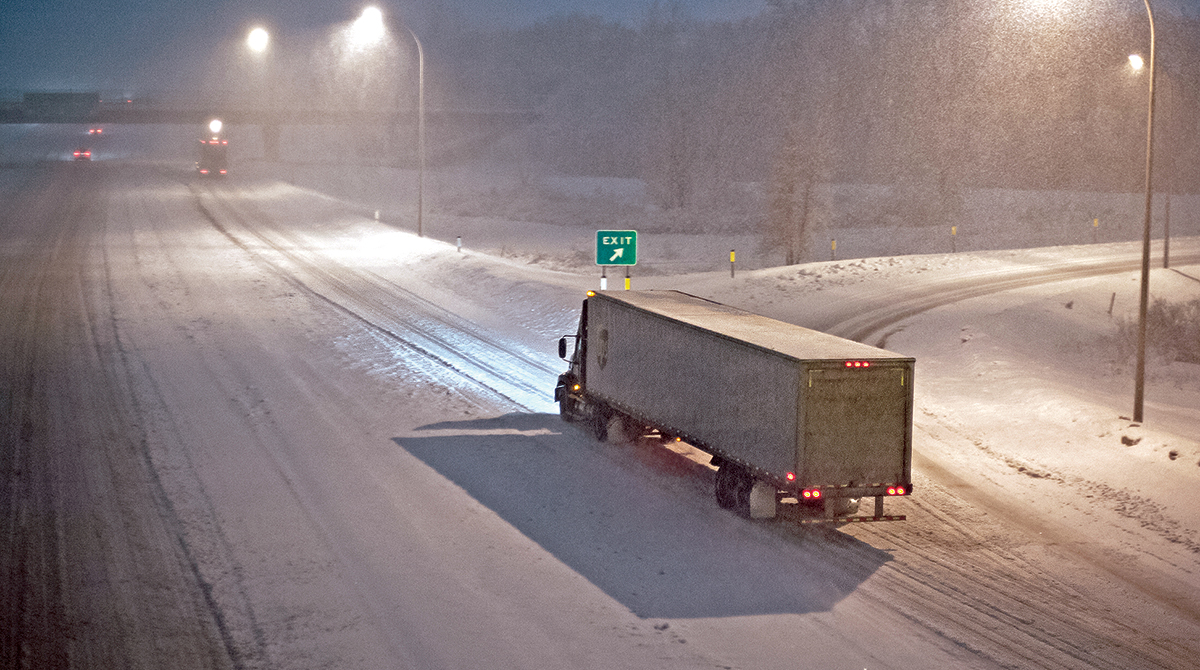Part of FMCSA's hours-of-service proposal involves traveling in adverse conditions.