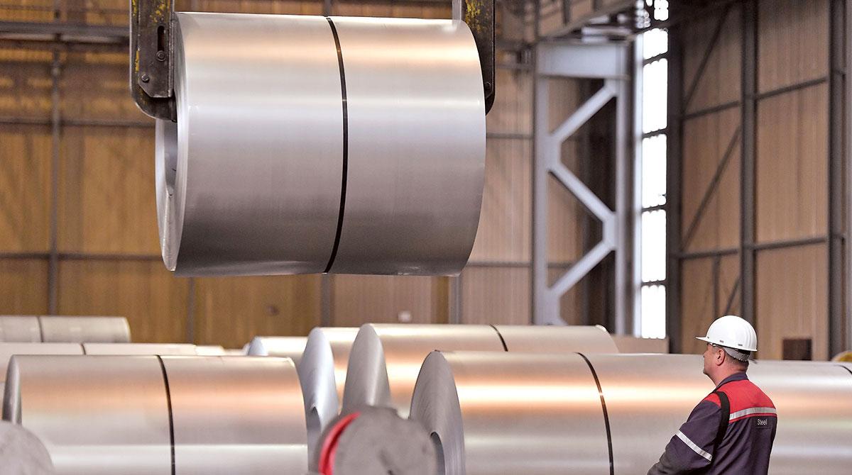 Steel factory in Germany