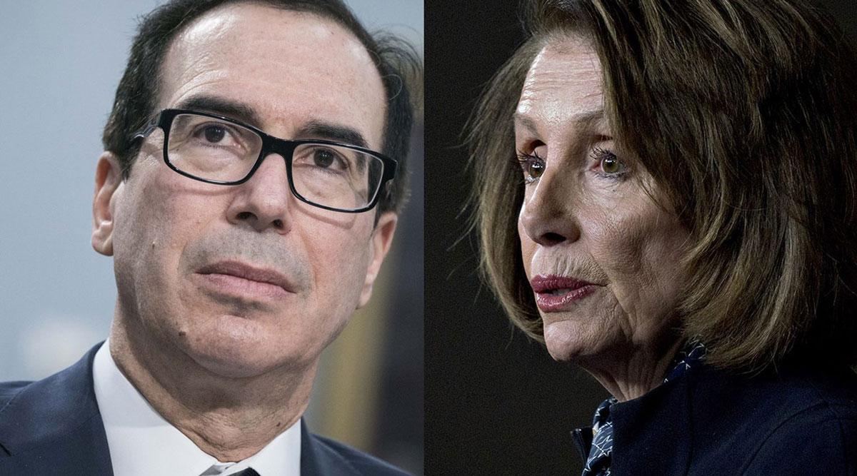 Treasury Secretary Steven Mnuchin and House Speaker Nancy Pelosi talked Oct. 7 about airline aid.