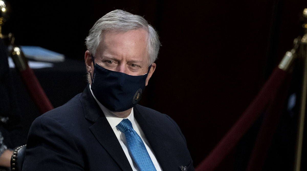 White House Chief of Staff Mark Meadows said the hope was to reach a deal on new stimulus by Oct. 23.