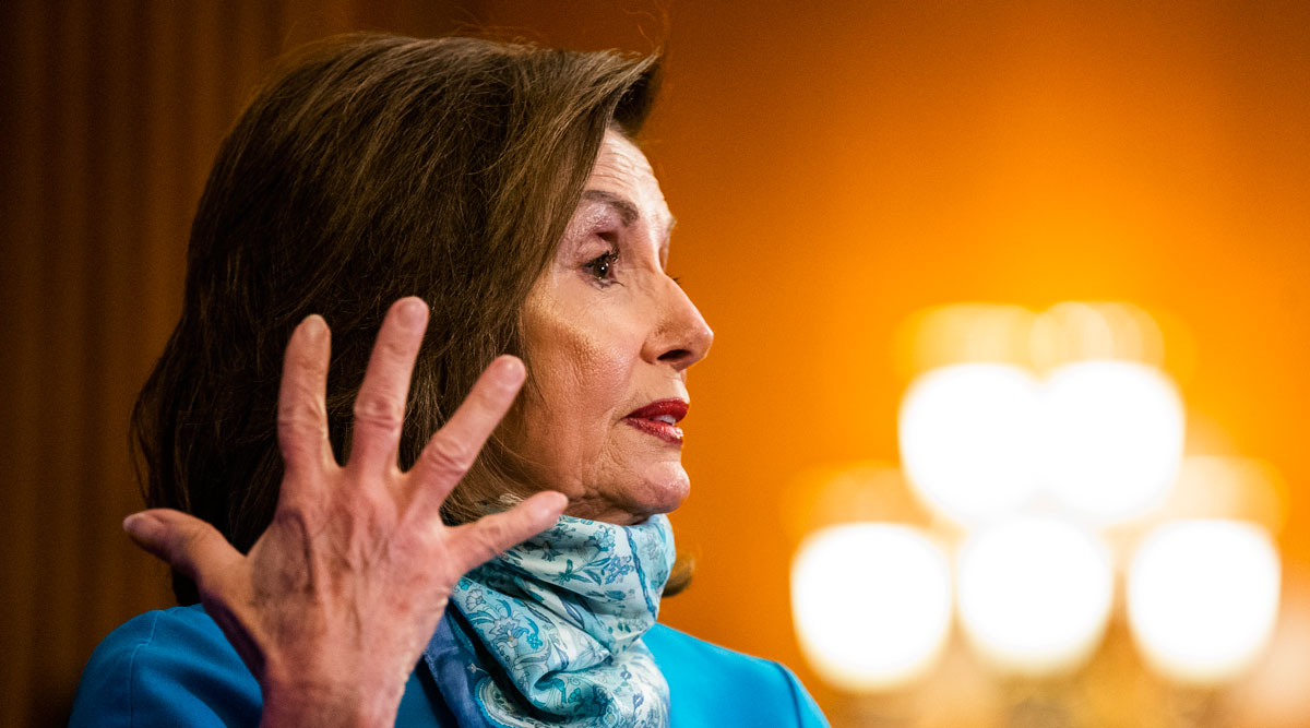 House Speaker Nancy Pelosi speaks during a Capitol Hill news conference May 7.