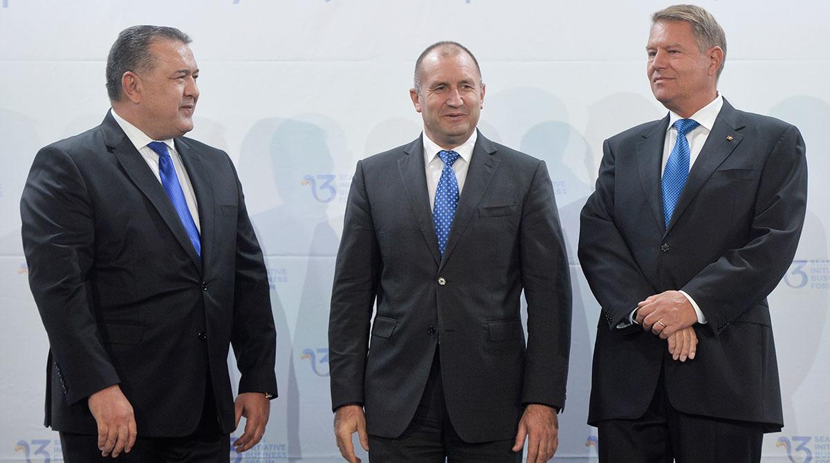 Mihai Durban, Rumen Radev and Klaus Iohannis