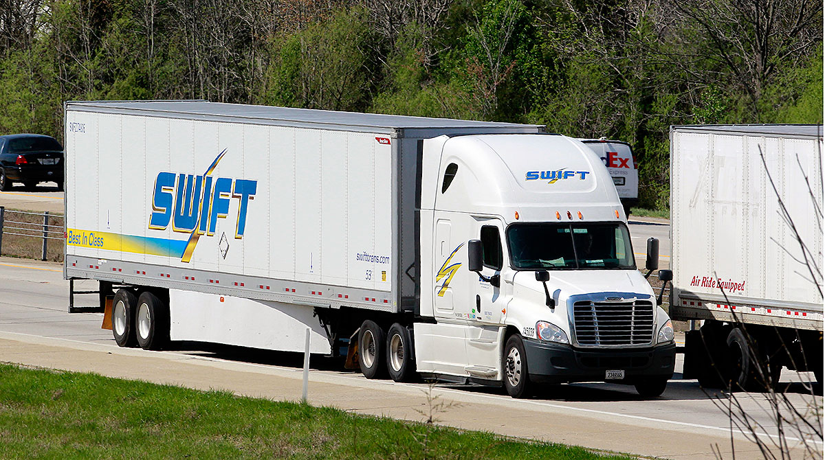 Swift truck on highway