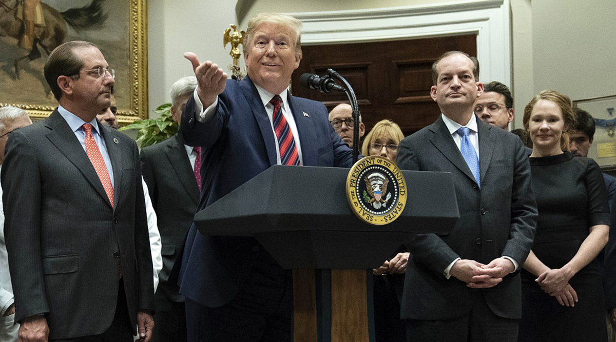 President Trump at the White House on May 9