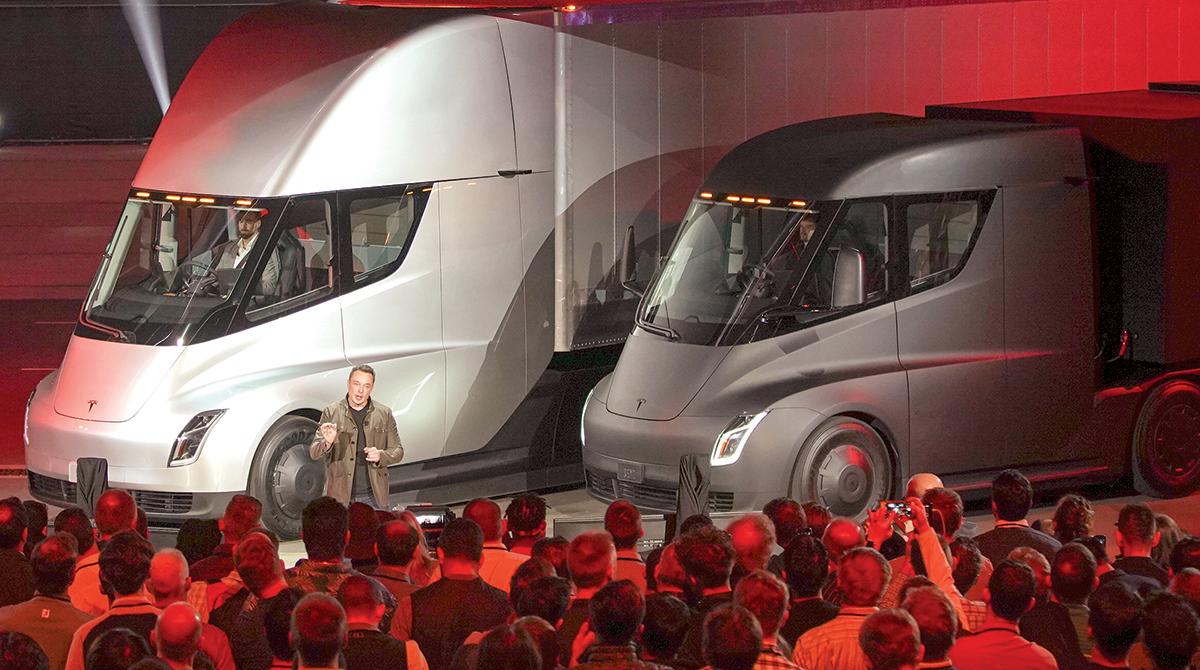 Tesla CEO Elon Musk, Tesla Semi trucks