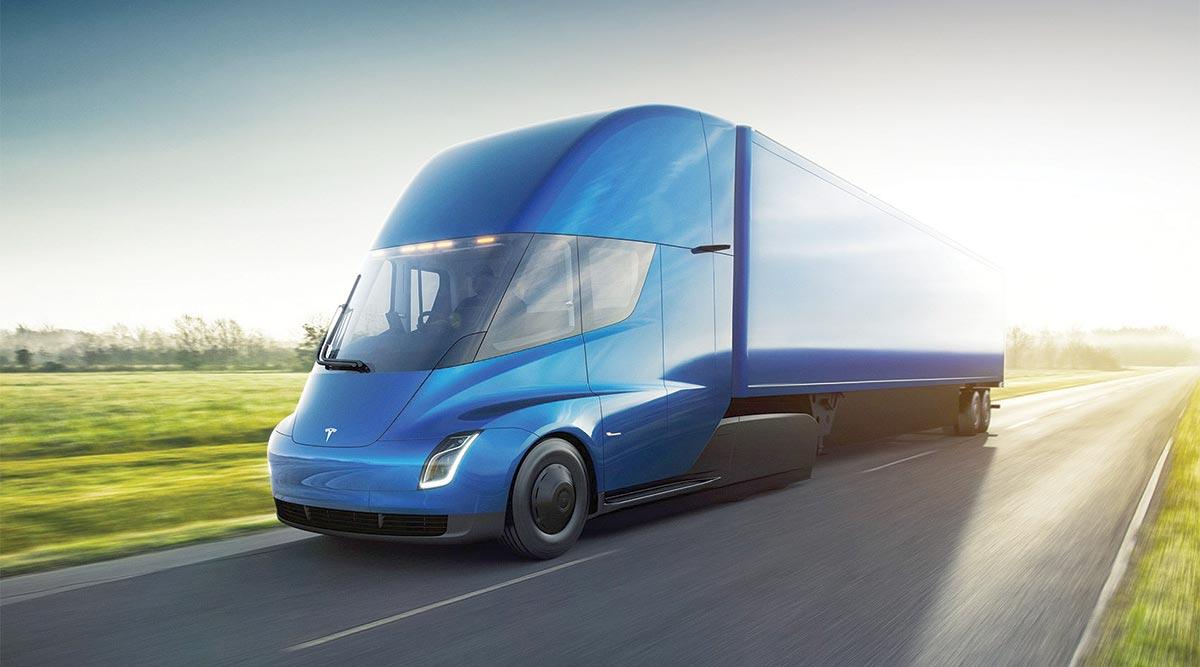 A Tesla Semi all-electric truck