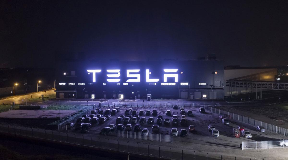 The Tesla Gigafactory in Shanghai, China.