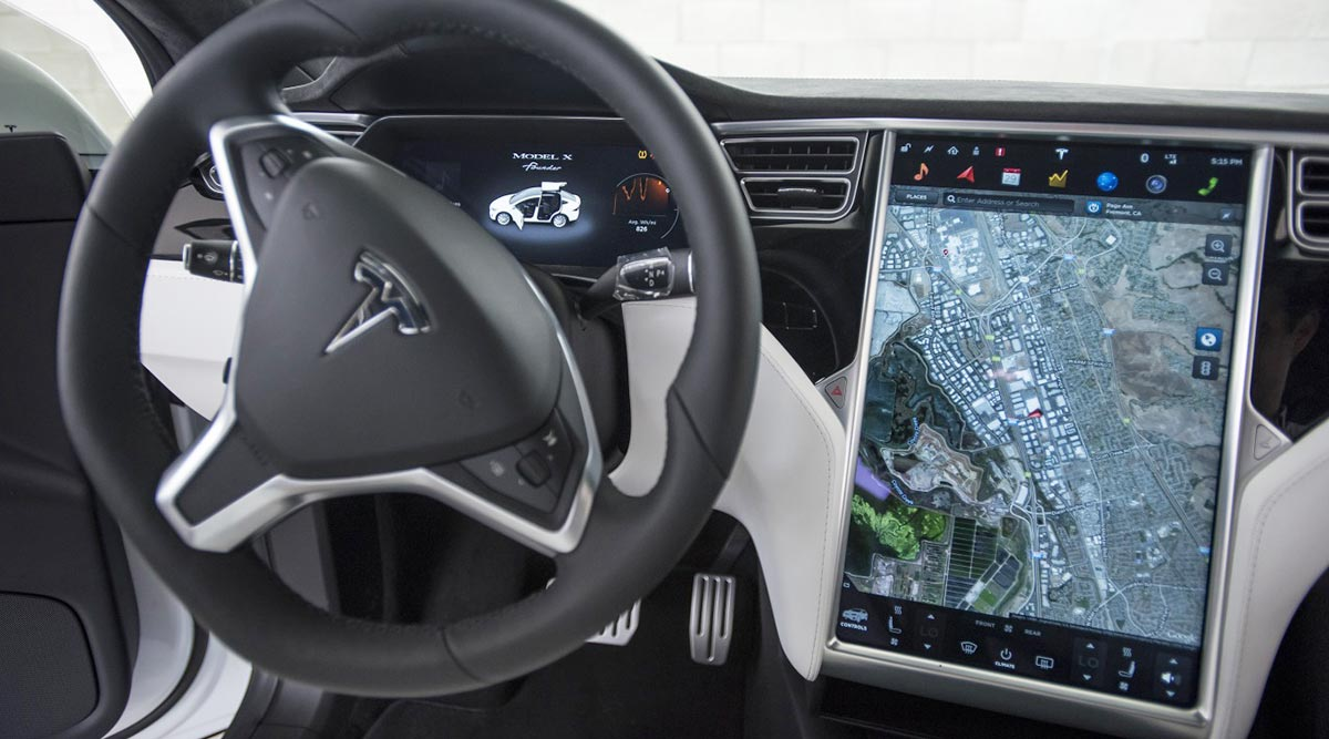 A Look At The Technology Outed In Tesla Vehicle David Paul Morris Bloomberg News